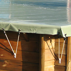 Cobertor de seguridad para piscina de madera SAFETY WOOD