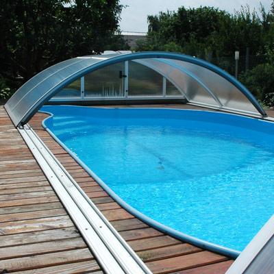 Cubierta para piscina idealcover klassik a for Cubierta piscina desmontable
