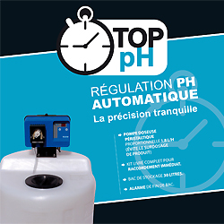 Kit de regulación autómatica de pH con depósito de relleno TOP pH