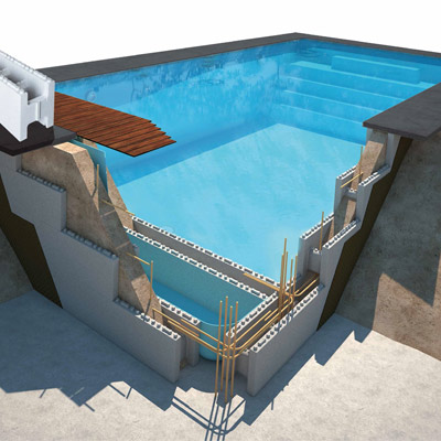 Kits de encofrado para piscina de hormigón ASTRAL First Bloc