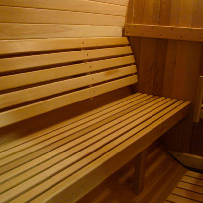 Banco sauna interior