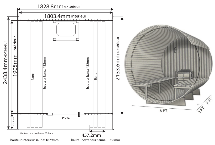 Dimensiones barrel weston